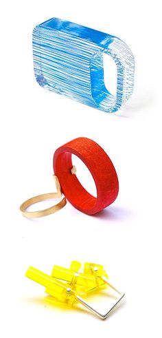 rings by Belgium's Diederick Van Hovell  - http://www.diederickvanhovell.com/