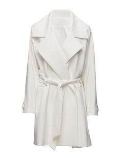 DAY - 2ND Roxie Loose fit Stretch fabric Casual elegance Classic Modern Coat Jacket White