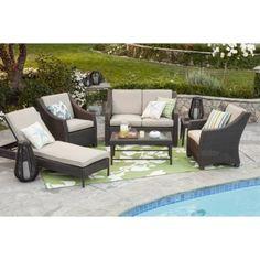 Threshold™ Belvedere Wicker Patio Conversation Furniture Collection - Tan