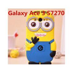 Resguarda de los golpes y la suciedad tu dispositivo con esta Carcasa divertida minion para Galaxy Ace 3. Fabricada en silicona un material muy resistente y de agradable tacto