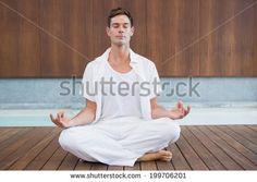 Handsome Man White Meditating Lotus Pose Stock Photo (Edit Now) 199706201 Lotus Pose, Handsome Man, Photo Editing, Meditation, Royalty Free Stock Photos, Spa, Poses, Orange, Health