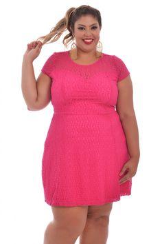 Vestido Penelope Realist - VK Moda Plus Size