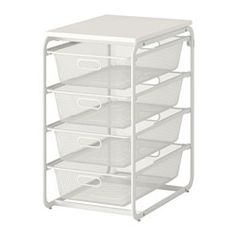 IKEA - ALGOT, Frame with 4 mesh baskets/top shelf, The parts in the ALGOT series can be combined in many different ways and easily adapted to…