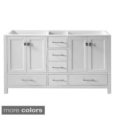 Virtu USA Caroline Avenue 60 Inch Double Sink Bathroom Cabinet Only By  VIRTU USA