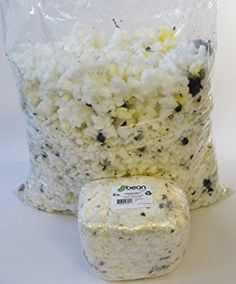 Refill for Pillows, Beanbag Chairs, Dog Beds, etc. Loose Shredded Latex Foam 3LB