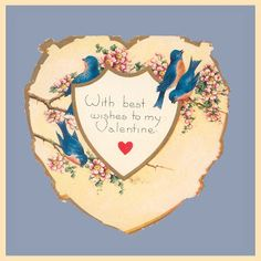 Vintage Valentine Museum: Don't be Chicken my little Love Bird!