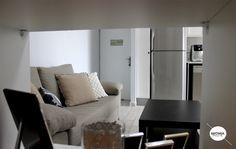apartment in haifa, living room, working space, sofa, televisin, kitchen