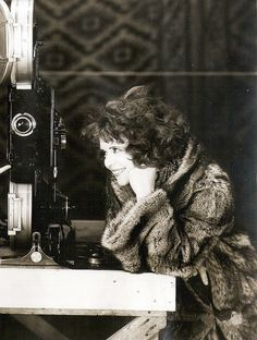 """Clara Bow on the set of """"The Wild Party"""" (1929)"""