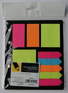 Assorted Sticky Notes and Page Markers Binder Inserts College Binder, Page Marker, Binder Inserts, Sticky Notes, School Supplies, Markers, Public Health, Desk, Tools