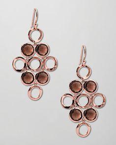 Ippolita Smoky Quartz Rose Gold Cascade Earrings - Bergdorf Goodman