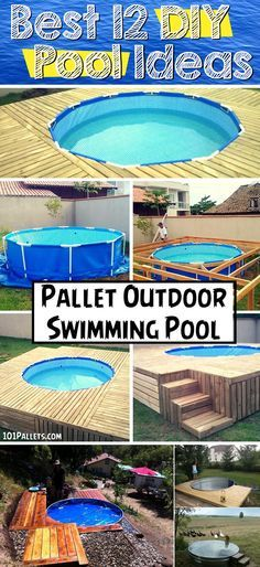 The Best 12 DIY Pool Ideas #DIY #outdoor #pool #ideas