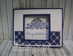 Stampin' Studio, Stampin' Up! Floral Phrases, Window Card Video Tutorial, Fun Fold