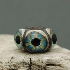 Glass Eyeball Bead   Handmade Lampwork  BHB  by JanelDudleyBeads, $28.00