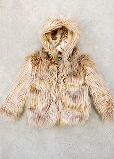 *NEW* Alexa Fur Coat in Caramel