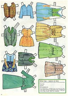 Sound of Music paper doll clothes / picasaweb.google.com