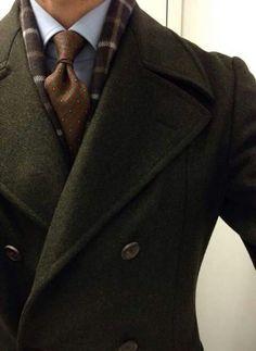 Abrigo verde cruzado