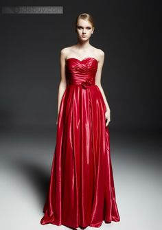 US$175.99 Charming A-line Sweetheart Pleat Flowers Ruched Floor-Length Evening Dress. #2014 #Floor-Length #A-line #Evening