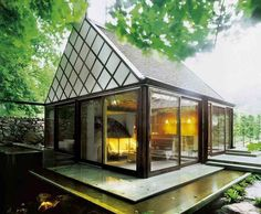 Small House Style is a web magazine dedicated to all things small house & home, prefab, sustainable, design, architecture and modern. Style At Home, Style Blog, Sauna House, Architecture Design, Beautiful Architecture, Contemporary Architecture, Miller House, Sweden House, Small House Exteriors