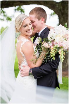 Bride & Groom | Blush Southern Inspired Wedding | Glen Ellen Farm | Hope Taylor Photography