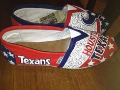 Houston Texans hand painted TOMS by solespirit on Etsy