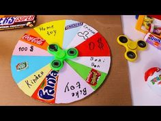 Simple DIY Idea - Prize Wheel For Kids From Fidget Spinner and Cardboard - .