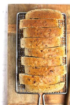 Multi-Grain Seeded Bread Bread Without Yeast, Yeast Bread, Bread Recipes, Vegan Recipes, Multi Grain Bread, Seed Bread, Multigrain, Whole Wheat Flour, Seeded