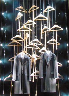 Dolce Gabbana Clothes Hanger'd Window Display