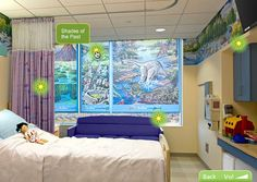 Patient room, The Children's Hospital at Montefiore, Bronx, NY. #Pediatric