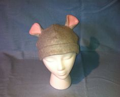 Sweet Gray Mouse Hat