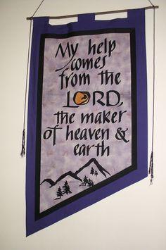 Lenten banner (reversible) for St. John Center Lutheran Church, East Earl, PA