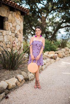 Style Me lauren purple floral dress