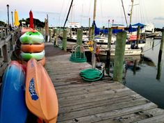 Kayaks on the waterfront in Beaufort, North Carolina. (Photo by Betsy Cartier) Travel Magazines, Local Events, Kayaks, Small Towns, Athens, Cartier, Surfboard, North Carolina, Old Things