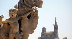 Marseille : Notre-Dame de la Garde vue de la gare Saint-Charles
