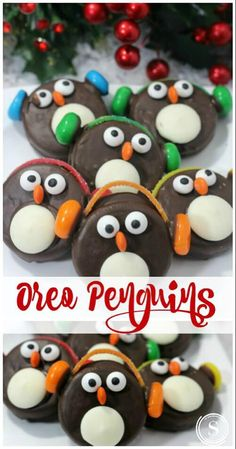 Oreo Penguins Recipe for the Holidays! Snow Day Treat or a FUN Christmas Party T… Recette de pingouins Oreo pour … Christmas Treats To Make, Christmas Party Food, Xmas Food, Christmas Sweets, Christmas Cooking, Noel Christmas, Christmas Goodies, Christmas Tables, Nordic Christmas