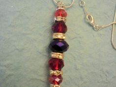 Faceted Glass and Rhinestone pendant