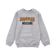 8616aed6cff3 Baby Boys Teddy Bear Sweatshirt - Grey by Moschino