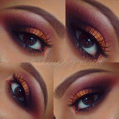 Im in love with this look !  @anastasiabeverlyhills brow wiz in ❤ Caramel❤ @nyxcosmetics ❤Sex Bomb Shadow palette❤ @urbandecaycosmetics #Vice3 ❤#makeupbyyareli