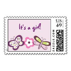 Sugar Plum Butterfly Custom Postage Stamps. This is customizable to put a personal touch on your mail. Add your photos or text to design your own stamp that can be sent through standard U.S. Mail. Just click the image to try it out!
