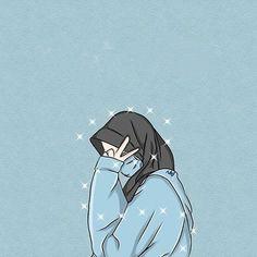 Cute Cartoon Images, Cartoon Art Styles, Cute Cartoon Wallpapers, Anime Girl Cute, Cute Anime Couples, Kawaii Anime Girl, Islamic Girl Pic, Mode Turban, Hijab Drawing