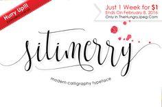Sitimerry Script By Bonjour Type