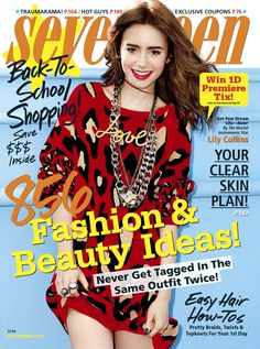 Lily Collins is on our September cover!
