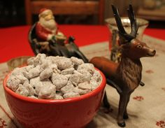 mint kissed puppy chow - making susie