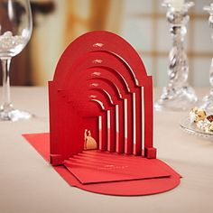 """""""Wedding in the Church"""" Red Wedding Invitations - Set of 50 – USD $ 98.99"""