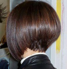 Short Angled Bob Hairstyles Back View