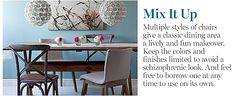 mixing dining chairs
