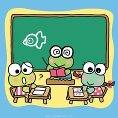 Sanrio: Keroppi in School Hello Kitty Backgrounds, Hello Kitty Wallpaper, Little Twin Stars, Pusheen, Keroppi Wallpaper, Disney Clipart, Pochacco, Hello Kitty Pictures, Bullet Journal Writing