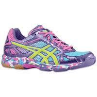 ASICS Gel-Flashpoint - Womens - Grape/Lime/Hot Pink : The ASICS GEL-Flashpoint volleyball shoe features a mesh and synthetic leather upper that is supportive, breathable and lightweight.