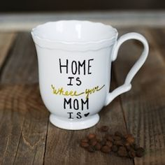 Make a simple DIY mug for your mom for mother's day, birthday or just to show her you love her!