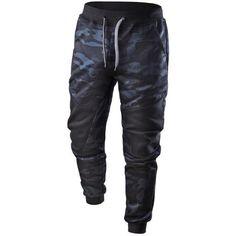 850e251177e96e Men s Casual Patchwork Camouflage Sweatpants