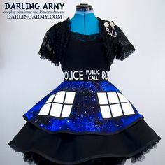Galaxy Tardis Doctor Who Space Cosplay Skirt | Darling Army